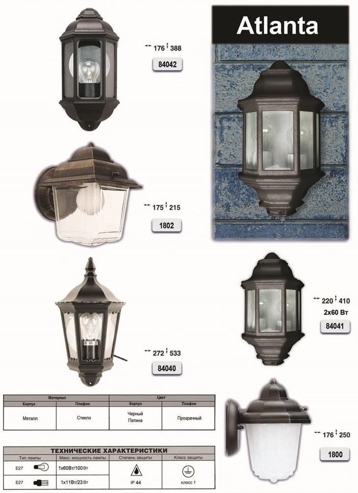 Уличные светильники ArcoLux Atlanta