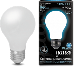Лампа Gauss LED Filament A60 OPAL E27 10W 4100К - фото 10419