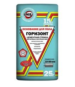 Юнис Горизонт Стяжка цементная 10-50 мм (25 кг) - фото 4792