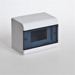 Щиток навесной пластиковый 6 модулей прозрачная дверца ТУСО - фото 6342