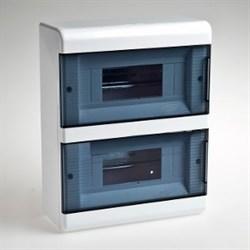 Щиток навесной пластиковый 18 модулей 2 прозрачные дверцы ТУСО - фото 6348