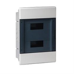 Щиток встраиваемый пластиковый 24 модулей прозрачная дверца ТУСО - фото 6353