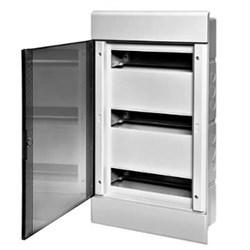 Щиток встраиваемый пластиковый 36 модулей прозрачная дверца ТУСО - фото 6355