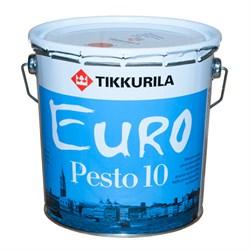 Краска матовая Евро Песто 10 TIKKURILA EURO PESTO 10 (2,7л) - фото 7070