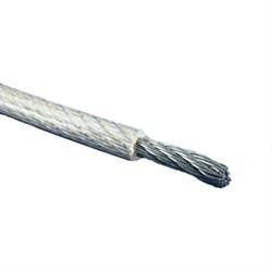 Трос стальной (канат) оцинкованный в ПВХ оплетке DIN 3055 Ø 2/3мм - фото 7135