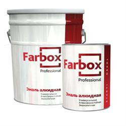 Эмаль ПФ-115 Farbox Коричневая (20кг) - фото 7306