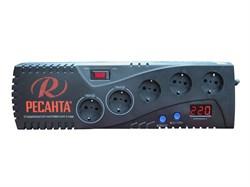 Бытовой однофазный цифровой стабилизатор РЕСАНТА С1500 - фото 7726
