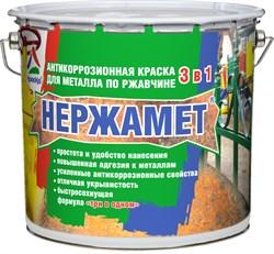 Краска для металла по ржавчине НЕРЖАМЕТ 3в1 RAL 8017 (3кг) - фото 8291