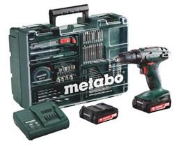 Аккумуляторная ударная дрель-шуруповерт METABO BS 14.4 2.0Ah x2 Case Set (602206880) - фото 8663