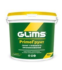 Грунтовка GLIMS PRIMEГРУНТ глубокого проникновения с антисептиком водостойкий - фото 8753