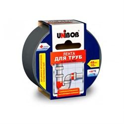 Скотч для труб ПВХ UNIBOB  48мм х 10м, серый - фото 8784