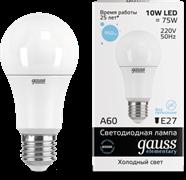 Лампа Gauss LED Elementary A60 10W E27 6500K