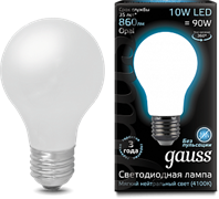 Лампа Gauss LED Filament A60 OPAL E27 10W 4100К