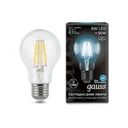 Лампа Gauss LED Filament A60 E27 6W 4100К