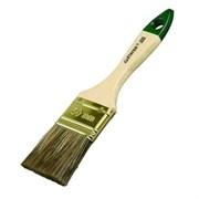 Кисть плоская STAYER LASUR-STANDART, смешанная щетина, деревянная ручка, 100мм