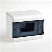 Щиток навесной пластиковый 9 модулей прозрачная дверца ТУСО