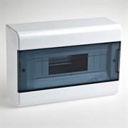 Щиток навесной пластиковый 12 модулей прозрачная дверца ТУСО