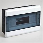 Щиток встраиваемый пластиковый 12 модулей прозрачная дверца ТУСО