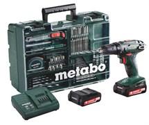 Аккумуляторная ударная дрель-шуруповерт METABO BS 14.4 2.0Ah x2 Case Set (602206880)